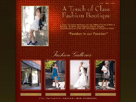 A Touch Of Class Fashion Gallery (613-244-0044) - Onglet de site Web - http://www.atouchofclassfashion.com