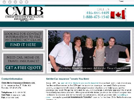 Chris Mellor Insurance Brokers Ltd (416-444-4405) - Website thumbnail - http://mellorinsurance.com/