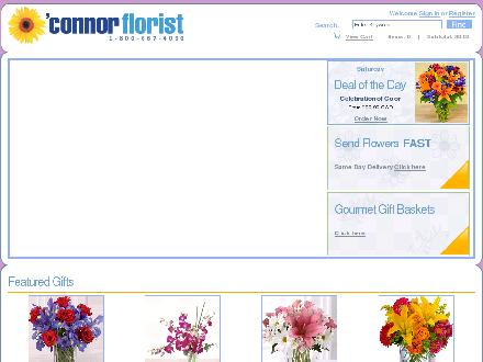 O'Connor Florist (416-429-1272) - Website thumbnail - http://www.oconnorflorist.ca