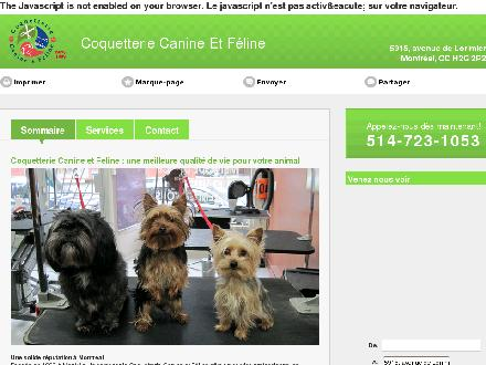 Coquetterie Canine Et F&eacute;line (514-723-1053) - Onglet de site Web - http://coquetteriecaninefeline.ca/