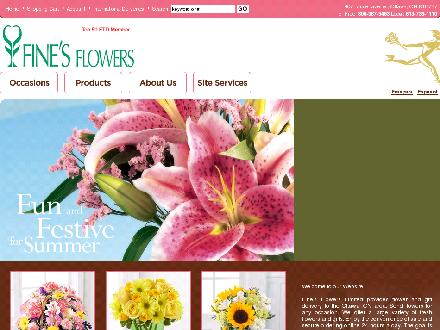 Fine's Flowers (613-736-1110) - Website thumbnail - http://www.finesflowers.com/