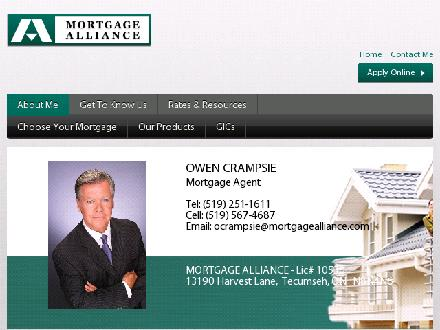 Mortgage Alliance Of Canada (519-251-1611) - Onglet de site Web - http://www.essentialmortgage.ca