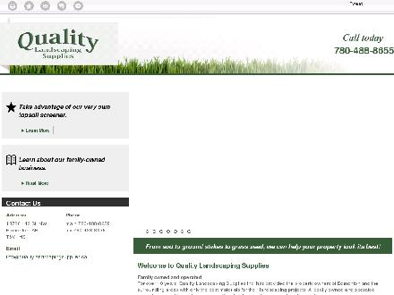 Quality Landscaping Supplies (780-488-8655) - Website thumbnail - http://qualitylandscapingsupplies.ca/
