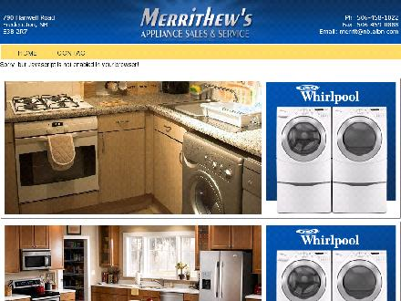 Merrithew's Appliance Sales And Service (506-458-1022) - Onglet de site Web - http://www.merrithewsappliance.com