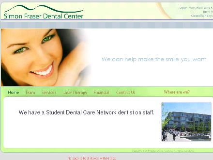 Simon Fraser Dental (604-267-3368) - Website thumbnail - http://www.simonfraserdental.com