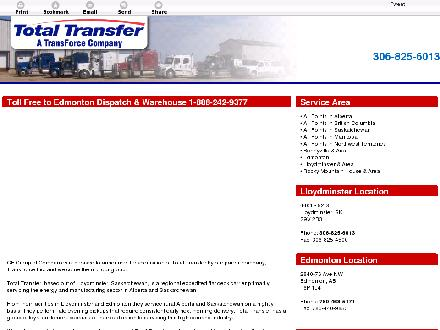Total Transfer Services Ltd (306-825-6013) - Website thumbnail - http://totaltransferservices.com/