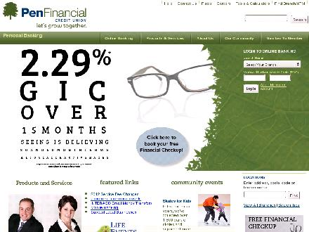 PenFinancial Credit Union Ltd (905-688-2044) - Website thumbnail - http://www.penfinancial.com
