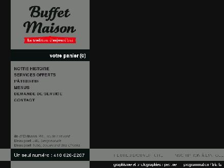 Buffet Maison (581-700-1410) - Website thumbnail - http://www.buffetmaison.com