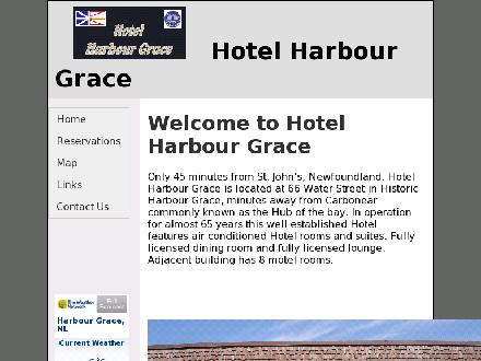 Hotel Harbour Grace (709-596-5156) - Website thumbnail - http://www.hotelharbourgrace.ca/