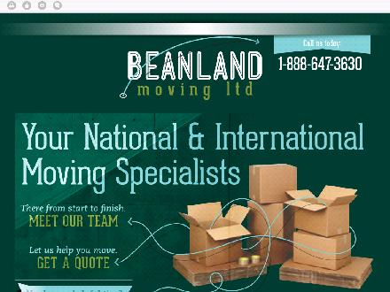Beanland Moving Ltd (709-647-3630) - Onglet de site Web - http://beanlandmoving.ca/
