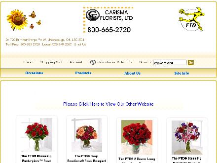 Carisma Florists Ltd (905-848-2300) - Website thumbnail - http://www.carismaflorists.com