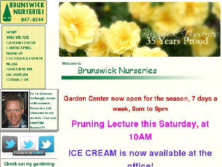 Brunswick Nurseries (506-847-8244) - Website thumbnail - http://www.brunswicknurseries.com