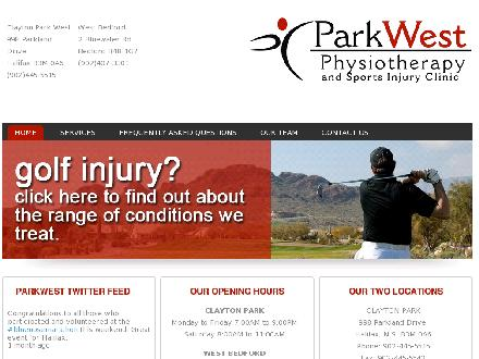 Park West Physiotherapy and Sports Injury Clinic (902-445-5515) - Onglet de site Web - http://www.parkwestphysio.com