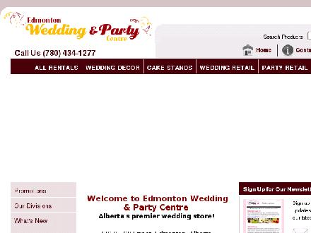 Edmonton Wedding & Party Centre (780-434-1277) - Onglet de site Web - http://www.edmontonwedding.com