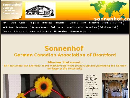German Canadian Assn Of Brantford (519-753-7561) - Onglet de site Web - http://www.sonnenhof.ca