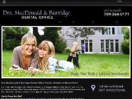 Drs MacDonald & Burridge (709-368-0171) - Website thumbnail - http://mountpearldentist.ca/