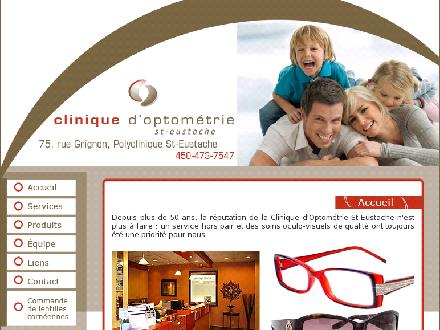 Clinique D'Optom&eacute;trie Saint-Eustache (450-473-7547) - Onglet de site Web - http://www.optometriesteustache.com/index.htm