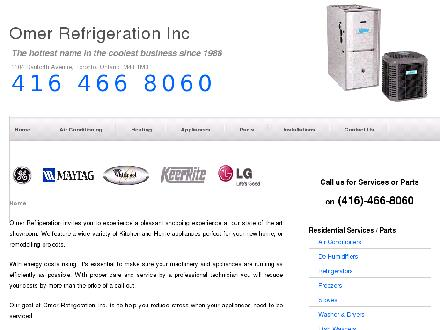 Omer Air Conditioning & Heating (416-466-8060) - Onglet de site Web - http://www.omerrefrigeration.ca