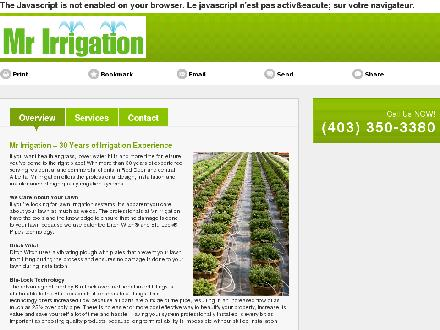 Mr Irrigation (403-350-3380) - Website thumbnail - http://mrirrigationalberta.com/