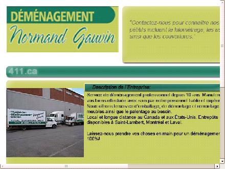 Déménagement N Gauvin (514-898-7557) - Website thumbnail - http://www.normandgauvin.ca