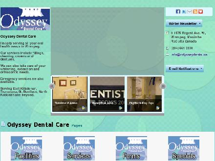 Odyssey Dental Care (204-661-2900) - Onglet de site Web - http://www.odysseydental.ca