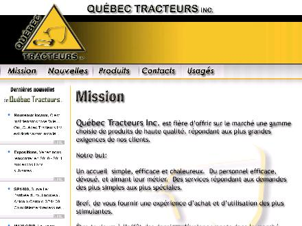 Quebec Tracteurs Inc (418-839-6384) - Onglet de site Web - http://www.quebectracteurs.com