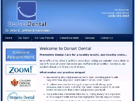 Jeffries A E Dr (647-931-9537) - Website thumbnail - http://www.dorsetdental.com