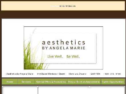 Aesthetics By Angela Marie (905-318-4454) - Website thumbnail - http://www.angelamarie.ca
