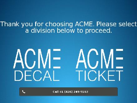 Acme Decal Ltd (416-249-9163) - Website thumbnail - http://www.acmedecal.com