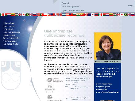 Centre De Langues Internationales Charpentier (CLIC) (450-359-7000) - Website thumbnail - http://www.clicnetwork.com/fr