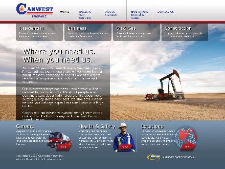 Canwest Propane (780-812-2644) - Onglet de site Web - http://www.canwestpropane.com
