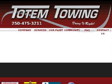 Totem Towing (250-419-0864) - Website thumbnail - http://www.totemtowing.com