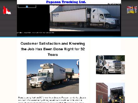 Papason Trucking Ltd (250-563-0464) - Onglet de site Web - http://www.papasontrucking.com
