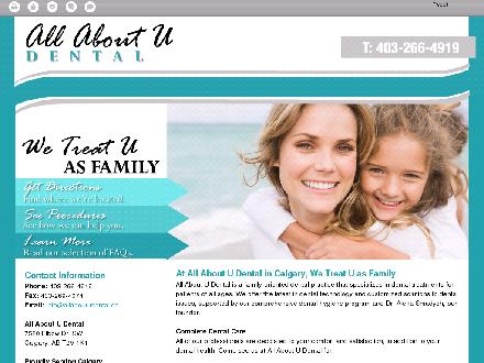All About You Dental (403-266-4919) - Onglet de site Web - http://allaboutudental.ca/