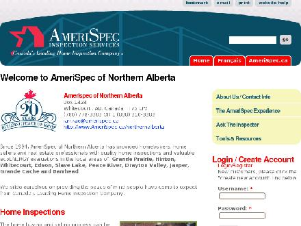 Amerispec Home Inspection Services (780-779-2263) - Onglet de site Web - http://www.amerispec.ca/northernalberta