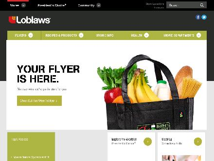 Loblaws Inc (613-599-9934) - Onglet de site Web - http://www.loblaws.ca