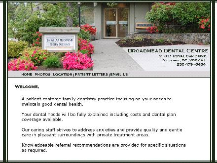 Broadmead Dental Centre (250-479-8434) - Website thumbnail - http://www.broadmeaddentalcentre.ca