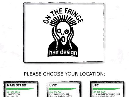 On The Fringe Hair Design (604-569-0856) - Onglet de site Web - http://www.onthefringehairdesign.com