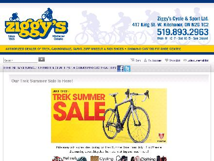 Ziggy's Cycle (226-214-4470) - Website thumbnail - http://www.ziggyscycle.ca