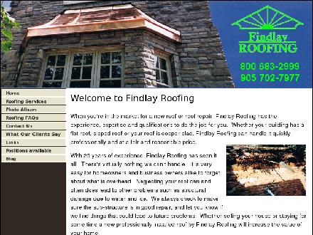 Findlay Roofing Inc (905-702-7977) - Onglet de site Web - http://www.findlayroofing.ca