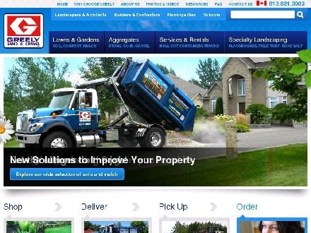 Greely Sand & Gravel Inc (613-909-7451) - Website thumbnail - http://www.greelysand.com