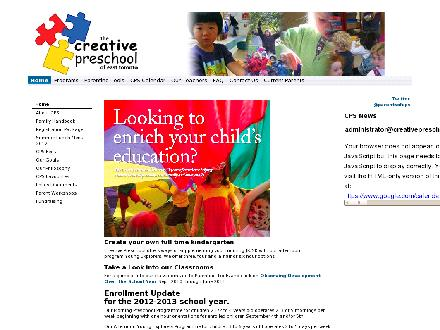 Creative Preschool Of East Toronto (416-465-3865) - Onglet de site Web - http://www.creativepreschool.ca