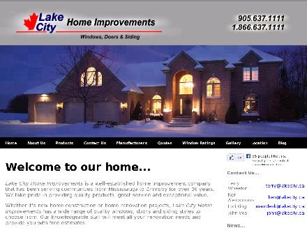 Lake City Home Improvements (905-637-1111) - Onglet de site Web - http://www.lakecity.ca