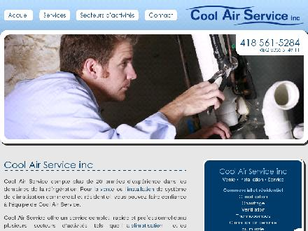 Cool Air Service Inc (418-561-5284) - Onglet de site Web - http://www.coolairservice.ca