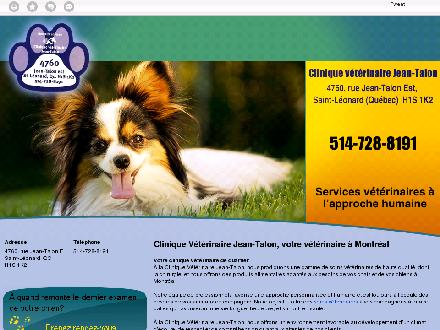 Clinique Vétérinaire Jean-Talon (514-728-8191) - Website thumbnail - http://cliniqueveterinairejeantalon.ca/