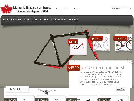 Marseille Bicycle & Sports Enr (514-254-0581) - Onglet de site Web - http://www.marseillebicycles.com