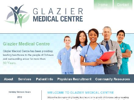 Glazier Medical Centre (905-579-1212) - Onglet de site Web - http://www.glaziermedical.com