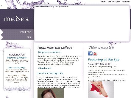 Medes Spa (506-802-7357) - Website thumbnail - http://www.medes.ca