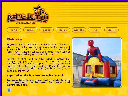 Astro Jump of Edmonton Ltd (780-988-9888) - Onglet de site Web - http://www.astrojump.org
