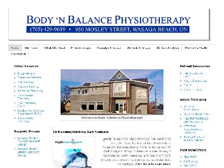 Body 'n Balance Physiotherapy (705-429-9619) - Website thumbnail - http://www.bodynbalancephysio.com
